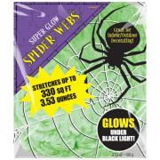 Giftgrünes Spinnennetz UV-leuchtend 100g