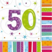 Servietten Geburtstag Radiant #50 33x33 cm