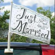 Autoflagge Just Married