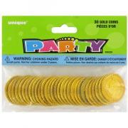 30 Party-Favours Goldmünzen