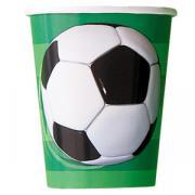 Pappbecher Fussball 266ml 8 Stück