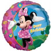 Folienballon Minnie Happy Birthday ø45cm