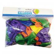 50 Latexballons ø30cm bunter Mix metallic