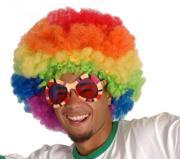 Perücke Afro Regenbogen