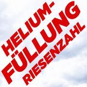 Heliumfüllung für Riesenzahl