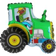 Folienballon Traktor Grün MET