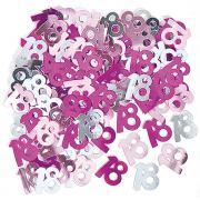 Metallic Konfetti Zahl 18 Pink 14g