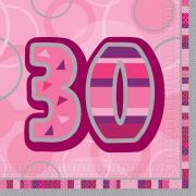 Servietten Geburtstag Glitz Pink #30 33x33 cm