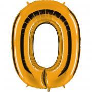 Folienballon Riesenzahl Gold #0 100cm
