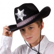 Hut Cowboy Junior Sheriff in Schwarz