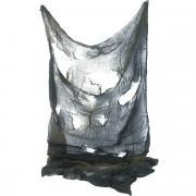 Halloween Netz / Tuch Schwarz 76x183cm