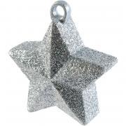 Ballongewicht Stern glitter 170g Silber