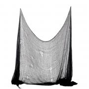 Halloween Netz / Tuch Schwarz 75x300cm