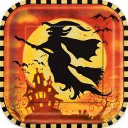 Pappteller Spooky Hollow ø23cm 8 Stück