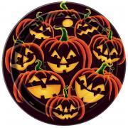 Pappteller Pumpkin Grin ø18cm 8 Stück