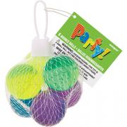 6 Party-Favours Springbälle Clear Glitter