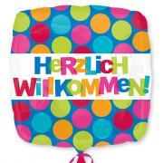 Folienballon Herzlich Willkommen 45cmØ