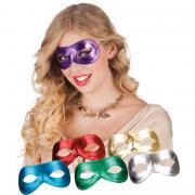 Maske Augenmaske Mix 6 Farben glitzernd