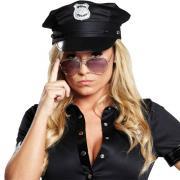 Hut Polizeimütze Schwarz Größe 59 59