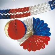 Deko-Set Rot-Weiß-Blau 3-teilig