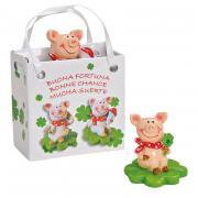 Glücksfigur Schweinchen in Tüte 4cm