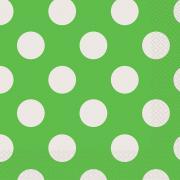 Servietten Dots Grün 33x33 cm 16 Stück
