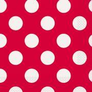 Servietten Dots Rot 33x33 cm 16 Stück