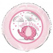 Folienballon Elefant Baby Shower pink ø45cm