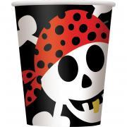 Pappbecher Piraten Spaß 266ml 8 Stück