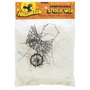 Weisses Spinnennetz 20g + Spinne
