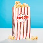 10 Popcorn-Tüten Retro Rot-Weiss 13x25cm