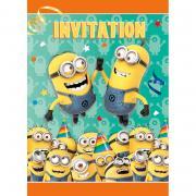 Einladungskarten Minions 8 Stück