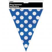 Wimpelkette Dots blau 365cm