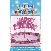 LED-Tortendeko Happy Birthday in Pink