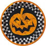 Pappteller Checkered Halloween ø23cm 8 Stück