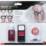 MakeUp Set Zombie mit Latex Augapfel