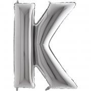 Riesenbuchstabe K Silber 100cm