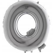 Folienballon Riesenbuchstabe Q Silber 100 cm