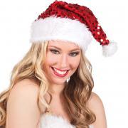 Mütze Weihnachten Pailletten