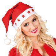 Mütze Weihnachten mit roten Sternen