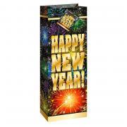 Tüte Wein Happy new year Feuerwerk