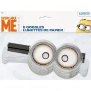 Brille Minions Papier 8 Stück
