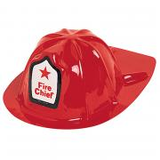Hut Feuerwehr rot