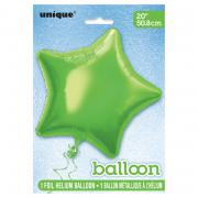 Folienballon Stern 50cmØ Limettengrün