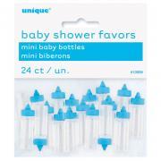 Favours Babyflasche Mini blau 24 Stück