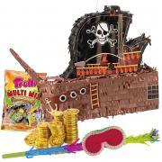 Set Pinata Piratenschiff mit Zubehör XL