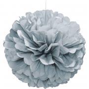 Pompom Fluffy in Silber ø40cm