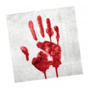 Servietten blutige Hand 33cm 20 Stück