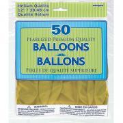Latexballons Metallic Gold ø30cm 50 Stück