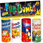 Tischfeuerwerk Fun Bombs jugendfrei 4er-Pack